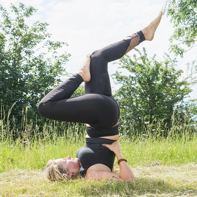 Shoulderstand - Sarvangasana variation